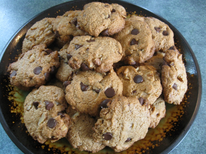 Butter Chocolate Chip Cookies Gluten free almond butter chocolate chip ...