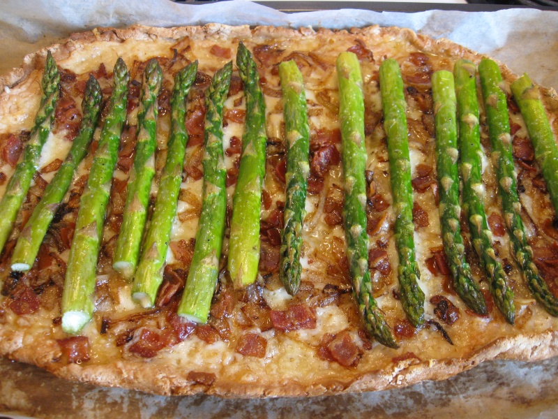 ROASTED ASPARAGUS BACON CHEESE TART « Gluten-Free Delightfully ...