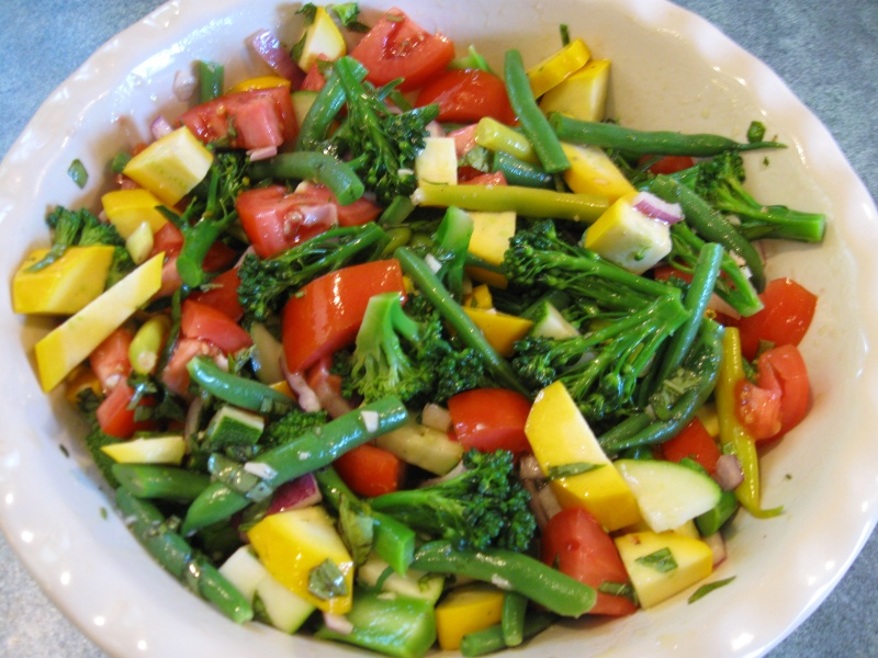 MARINATED SUMMER VEGETABLE SALAD « Gluten-Free Delightfully Delicious