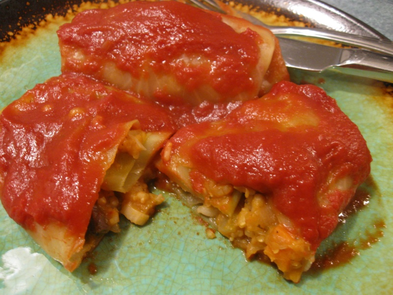 VEGETARIAN CABBAGE ROLLS « Gluten-Free Delightfully Delicious