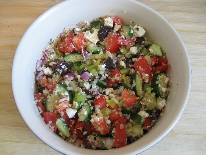 QUINOA GREEK SALAD « Gluten-Free Delightfully Delicious