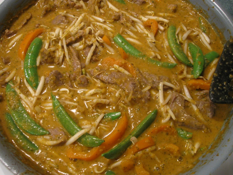 Check for seasonings, and serve hot over steamed rice with a ...